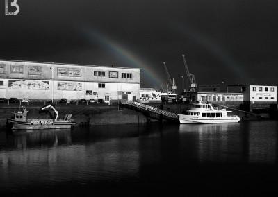 Arc en ciel au port de commerce