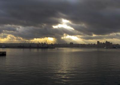 Coucher de soleil sur Durban