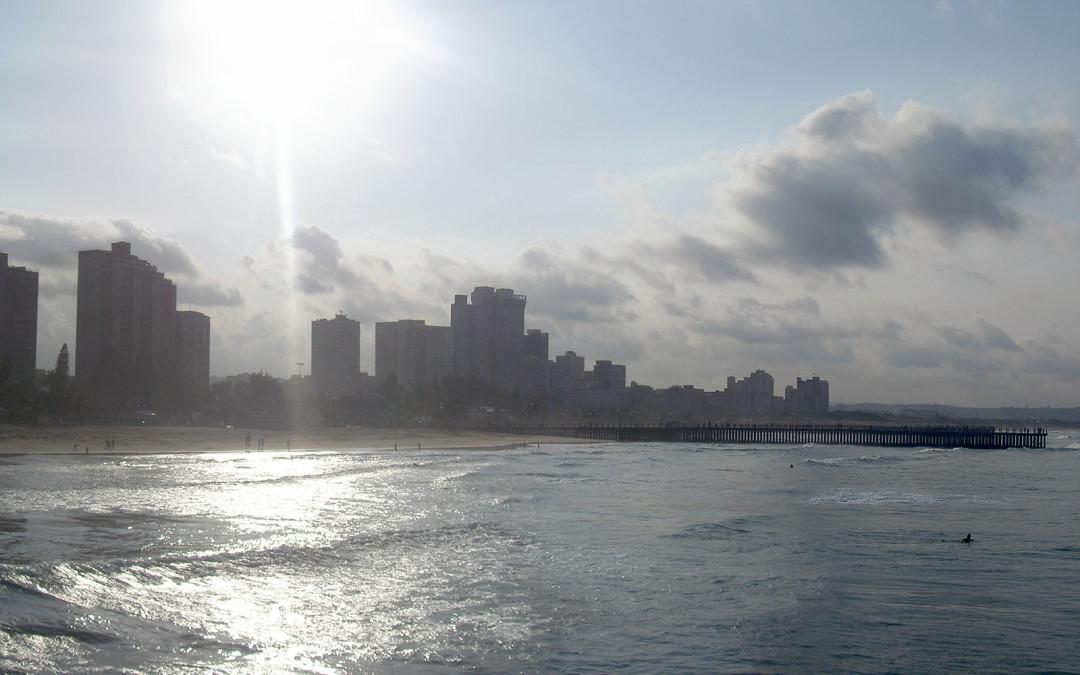 Panoramique de la plage de Durban