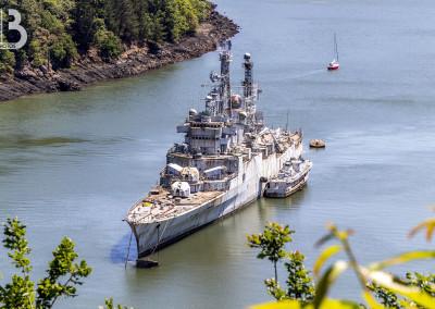 Le croiseur Colbert au cimetière des navires