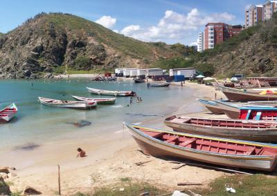 Panoramique de la Pointe Cabeza El Moro à Porlamar