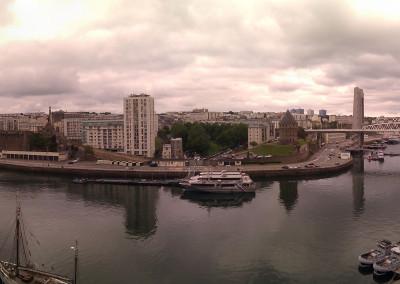 Panoramique du pont de Recouvrance